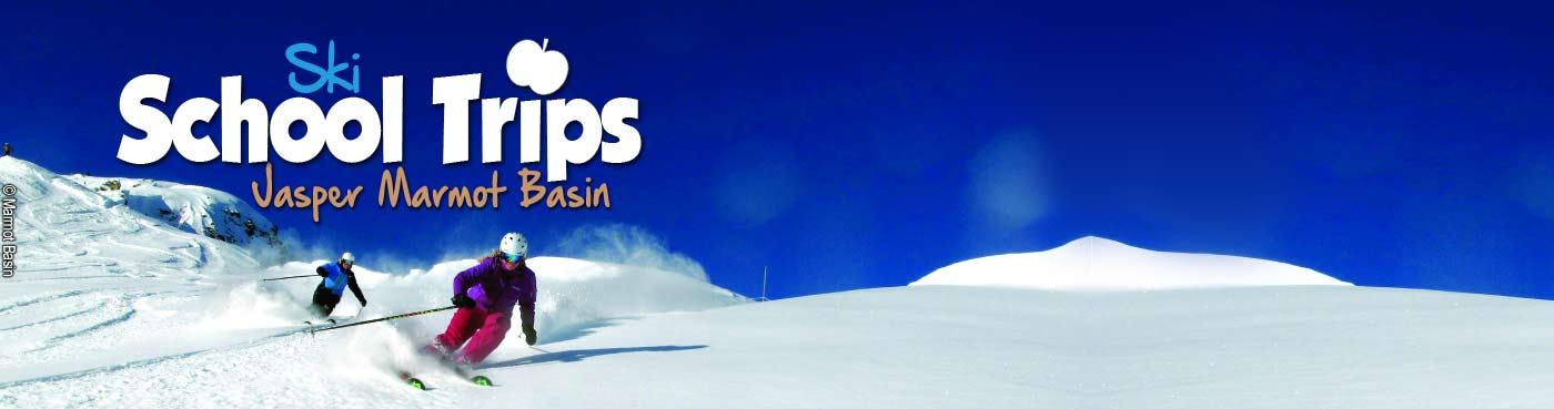 Jasper Marmot Basin school ski trips