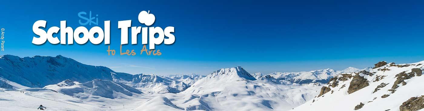 Les Arcs school ski trips