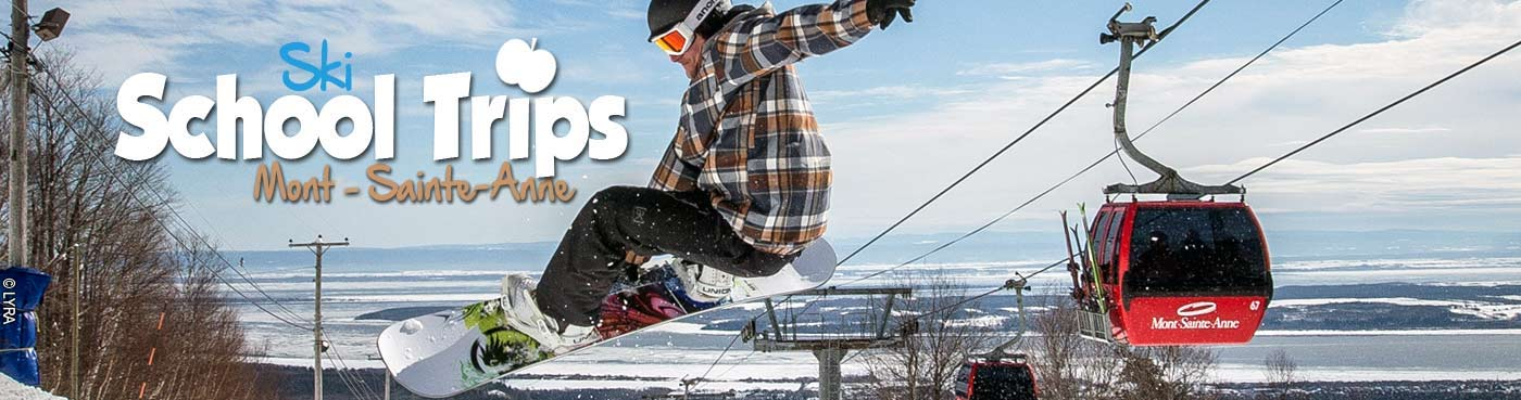 Mont-Sainte-Anne school ski trips