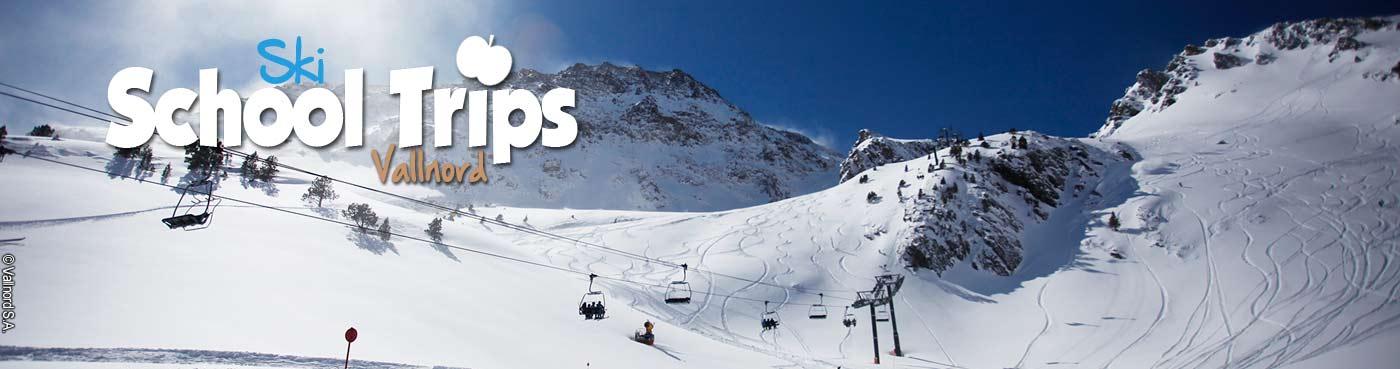 Vallnord school ski trips